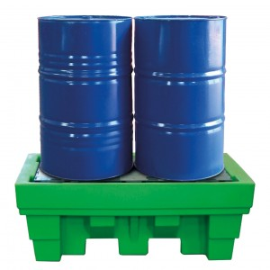 Recycled Polyethylene sump pallet for 2 drums