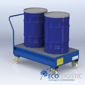 MOBILE SUMP for 2 x 200 kg drums.