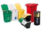 WASTE COLLECTION containers and bins
