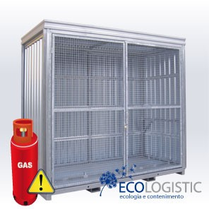 STEEL container for gas cylinders - Heavy duty