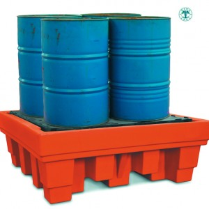Sump pallet for 4 drums