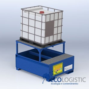 STEEL SUMP WITH MOUNT for 1 x 1000 lt IBC.