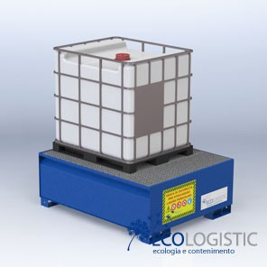 Steel containment sumps for 1x 1000 lt. IBC