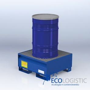 Steel containment sumps for 1 x 200 kg. drum