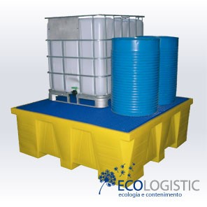 Polyethylene spill pallet MAXI RETENTION